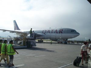 Angenehmer Flug mit der Quatar nach Kathmandu