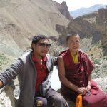 Der Tourguide und ein Mönch