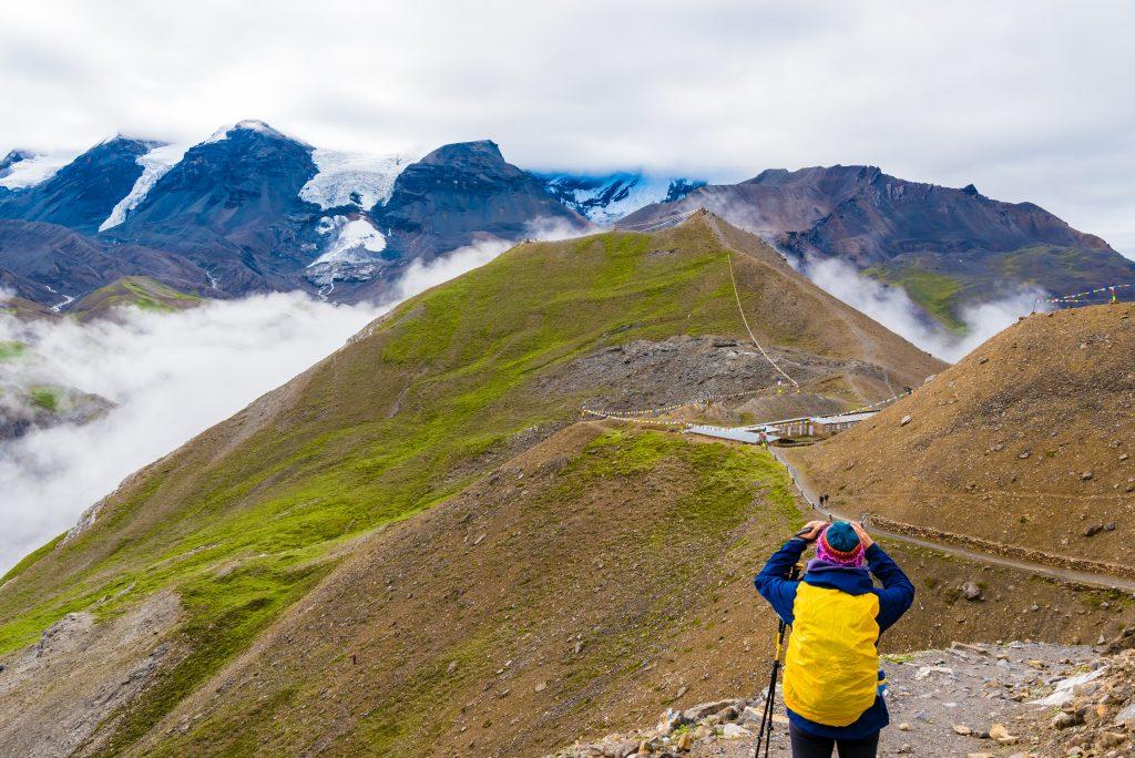 Blick auf den Throng-La Pass, der Bestand Annapurna Runde Individuell-Reise