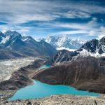 Gokyo-Lake hinter dem Everest-Gebiet