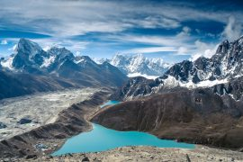 Gokyo-Lake hinter dem Everest-Gebiet