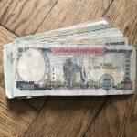 Elefanten auf Geldschein in Nepal